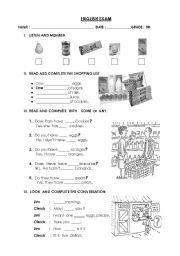 English Worksheets:  Soem and Any