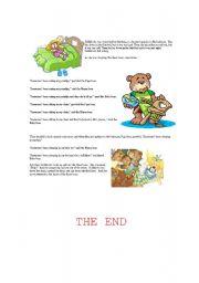 English Worksheets: Goldicloks (2nd part)