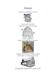 English Worksheets: Houses for animals
