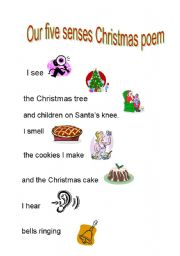 English Worksheet: Christmas poem