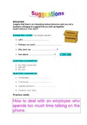 English Worksheets: Suggestions-