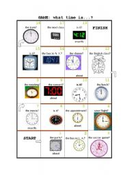 GAME: What time is it?