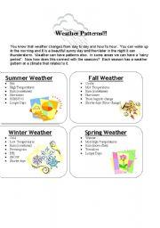 weather patterns esl worksheet by dzdancindiva. Black Bedroom Furniture Sets. Home Design Ideas