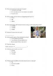 English Worksheet: Forrest Gump movie quiz (part 2)