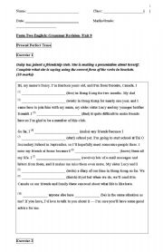 English Worksheets: grammer revision