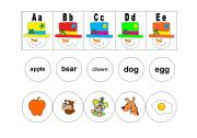 English Worksheet: SNOWMAN ALPHABET MATCH PART 1
