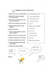 English Worksheet: Jokes and Puns