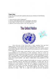 intermediate esl worksheets the united nations reading comprehension. Black Bedroom Furniture Sets. Home Design Ideas