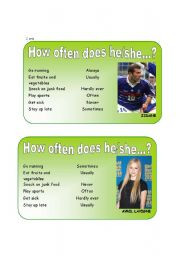 English Worksheets: How often do they...?