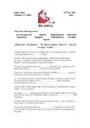 A Christmas Carol - ESL worksheet by mmargalef