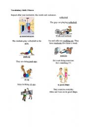 English Worksheet: Fitness Vocabulary for beginners
