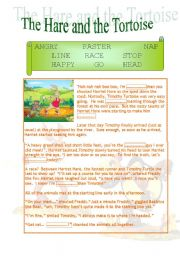 The Hare And The Tortoise Esl Worksheet By Newuser07