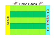 English Worksheet: HORSE RACES FOR PRACTICING TENSES