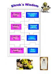 English Worksheets: Shrek activities