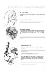 worksheet: Brainy Quotes and Sayings