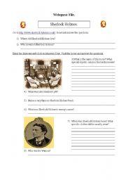 English Worksheet: Sherlock Holmes webquest