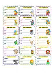English Worksheets: AWARDS 1