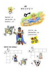 English Worksheets: Learning Letters