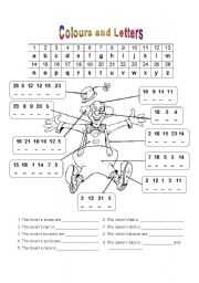 English Worksheet: HAPPY CLOWN