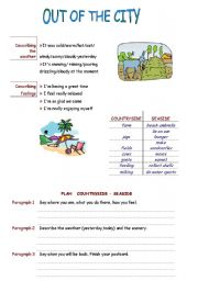 English Worksheet: Writing Plan
