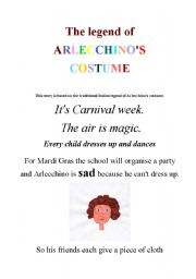 English Worksheets: the legend of Arlecchino