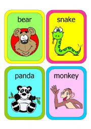 English Worksheets: ANIMAL FLASHCARDS 1