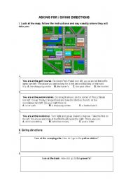 English Worksheets:  Giving direstions