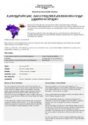 English Worksheets: Adventure Travel South America