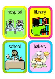 English Worksheets: PLACES FLASHCARDS