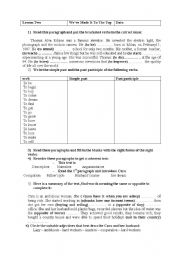 English Worksheet: We� ve made it to the top