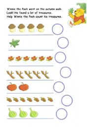 English Worksheets: winnie the pooh and his  autumn treasures