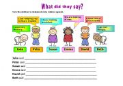 English Worksheet: INDIRECT SPEECH 1
