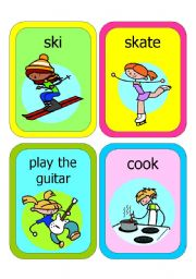 English Worksheet: ACTION PICTURE FLASHCARDS