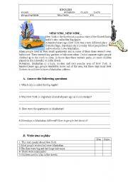 English Worksheet: 6th grade test-Portugal