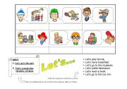 English Worksheets: LET�S