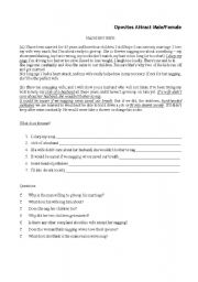 English Worksheets: nagging wife