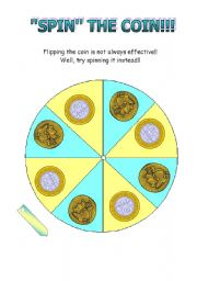 English Worksheet: Coin Spinner