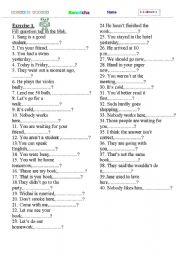 English Worksheets: taq question test
