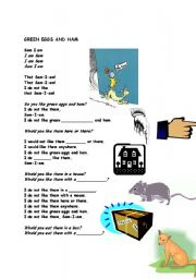 English Worksheets: Green Eggs and Ham