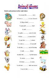 English Worksheets: Animal idoms 2