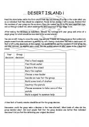 Desert Island worksheets