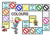 English Worksheets: Colours game