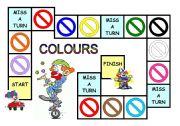 English Worksheet: Colours game