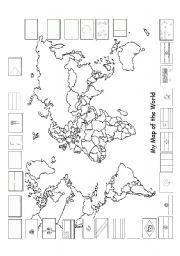 English teaching worksheets World map
