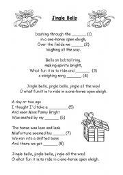 English Worksheet: Jingle Bells Carol