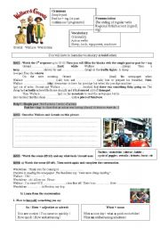English Worksheets: Wallace and Gromit - A close shave