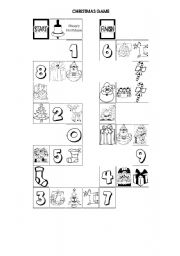English Worksheet: christmas board game