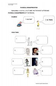 English Worksheets: Physical characteristics