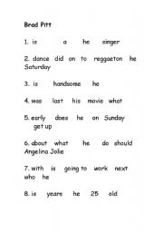 English Worksheets: Celebrety Questions to tear apart....