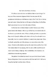 Practice writing a narrative essay esl worksheet by kbroshears